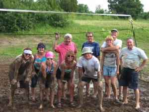 Kelly's mud volleyball