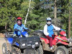 Judy and Debbie on ATVs